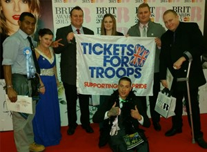 INJURED TROOPS PARTY AT THE BRIT AWARDS 2015