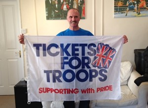 Ultra Marathon Colour Sergeant Kilpatrick keeps on running